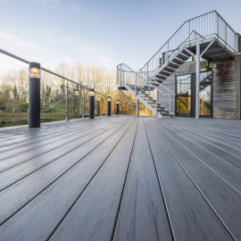 Lame de terrasse grain fin bois petrifié