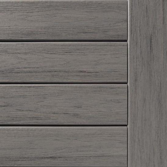 Lame de terrasse grain fin bois noirci