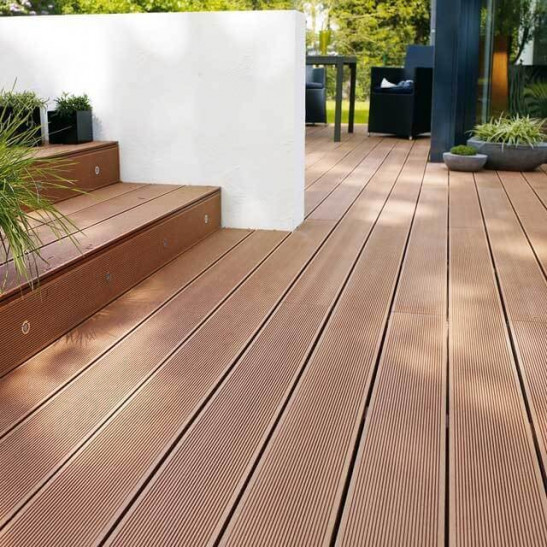 Lame De Terrasse Composite Marron